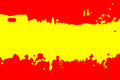 Color of Spanish flag. Royalty Free Stock Photo