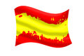 Color of Spanish flag ripple. Royalty Free Stock Photo