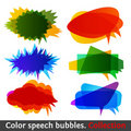 Color speech bubbles collection eps10 Stock Photography