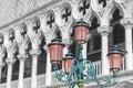 Color splash photo of Doges palace Venice, Italy Royalty Free Stock Photo