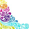 Color Splash Waves Abstract Ba...