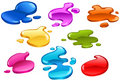 Color splashes Stock Photo