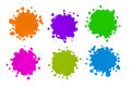 Color Splatters Stock Photo