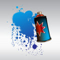 Color spray aerosol Royalty Free Stock Images