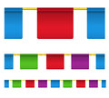 Color square celebration flags Royalty Free Stock Photo