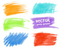 Color stains with markers vector Royalty Free Stock Image