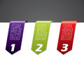 Color stationary banner set Royalty Free Stock Photography