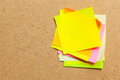 Color sticker notes Royalty Free Stock Photo