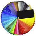 Color swatch cutout isolated with clipping paths Royalty Free Stock Image