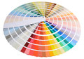 Color swatch guide you easily find your Royalty Free Stock Photography