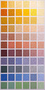 Color swatch palette wall of colour for painting Royalty Free Stock Image
