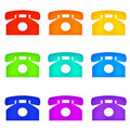Color telephones Royalty Free Stock Photo