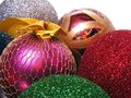 Color toys for christmas tree Royalty Free Stock Image