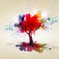 Color tree with plenty of foliage Royalty Free Stock Photos