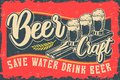 Color vector illustration with beer and lettering
