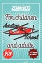 Color vintage Aviation poster