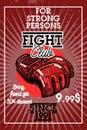 Color vintage fight club banner