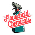 Color vintage household chemicals emblem