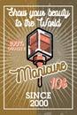 Color vintage manicure banner