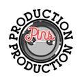 Color vintage pins production emblem