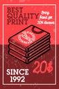 Color vintage silkskreen print banner