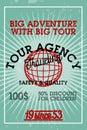 Color vintage tour agency banner