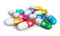 Color vitamin pills Stock Photography