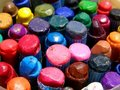 Color wax crayons Royalty Free Stock Images
