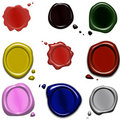 Color wax seals Stock Photography