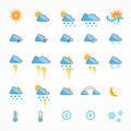 Color Weather Icons Royalty Free Stock Photo