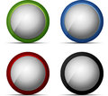Color web button set Stock Image
