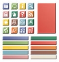 Color web icons Stock Photos