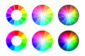Color wheel from 12 color rgb, vector set on white background