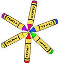 Color wheel of crayons Stock Image