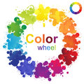 Color wheel creative made from paint splashes Stock Images