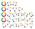 Color wheel and geometric forms combinations Royalty Free Stock Photo