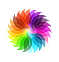 Color wheel leaves abstract background Royalty Free Stock Photo