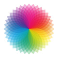 Color wheel with shades of colors Royalty Free Stock Image