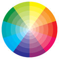 Color wheel a showing a rainbow spectrum of bright Royalty Free Stock Photos