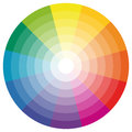 color wheel with twelve colors Royalty Free Stock Photo