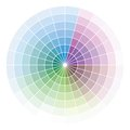 Color wheel vector illustration of the Stock Photography