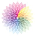 Color wheel vector illustration of the Royalty Free Stock Image