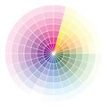 Color wheel vector illustration of Stock Photos