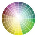 Color wheel vector illustration of Stock Images