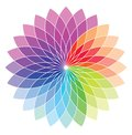 Color wheel vector illustration of Stock Photo