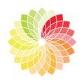Color wheel vector Royalty Free Stock Photo