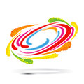 Color whirl concept a swirl in motion Stock Images