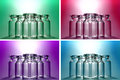 Color wishing bottles background Royalty Free Stock Photos