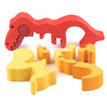 Color wooden dino toy Royalty Free Stock Photo