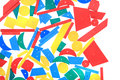 color wooden toy shapes Royalty Free Stock Photo
